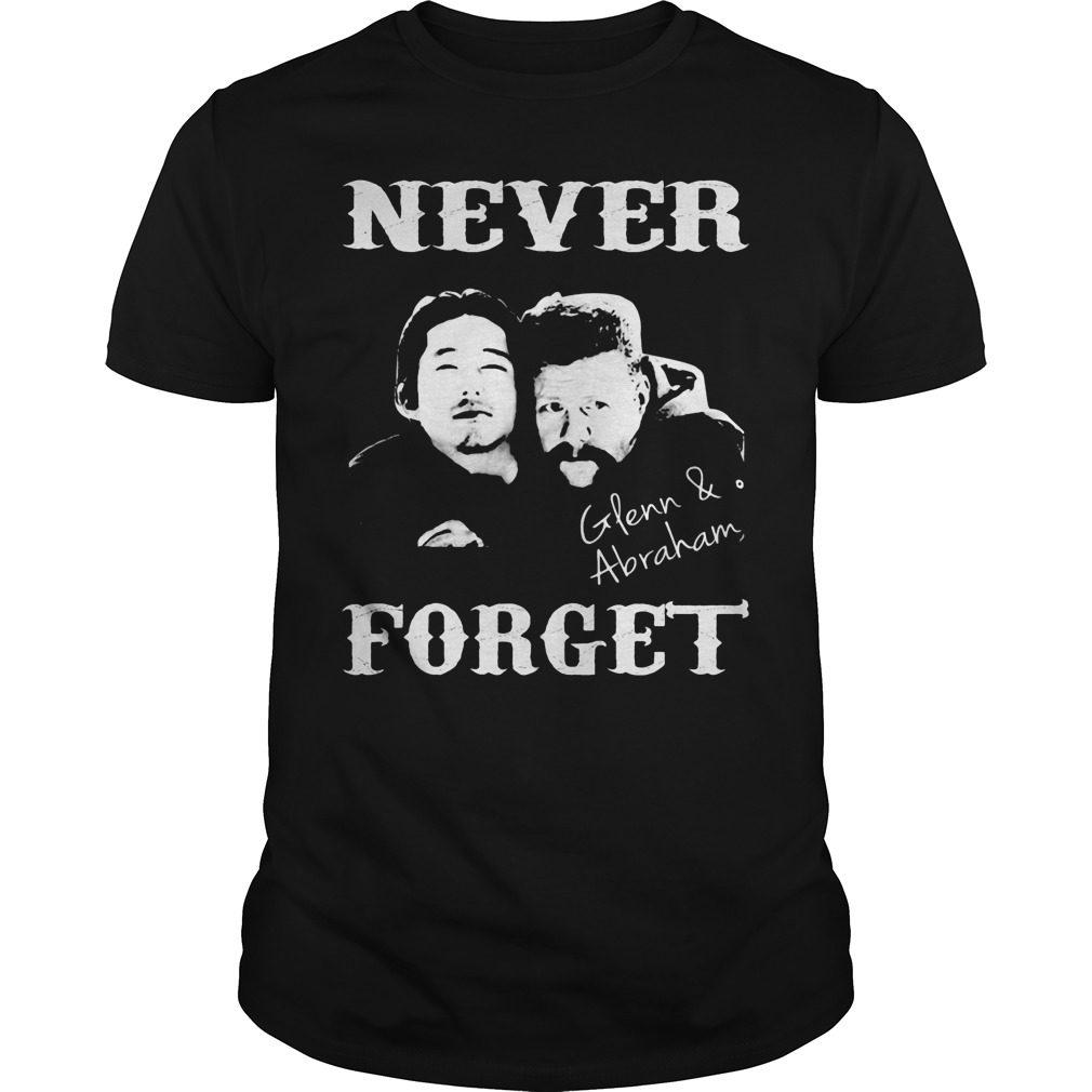 Never Forget Glenn And Abraham Guys Shirt