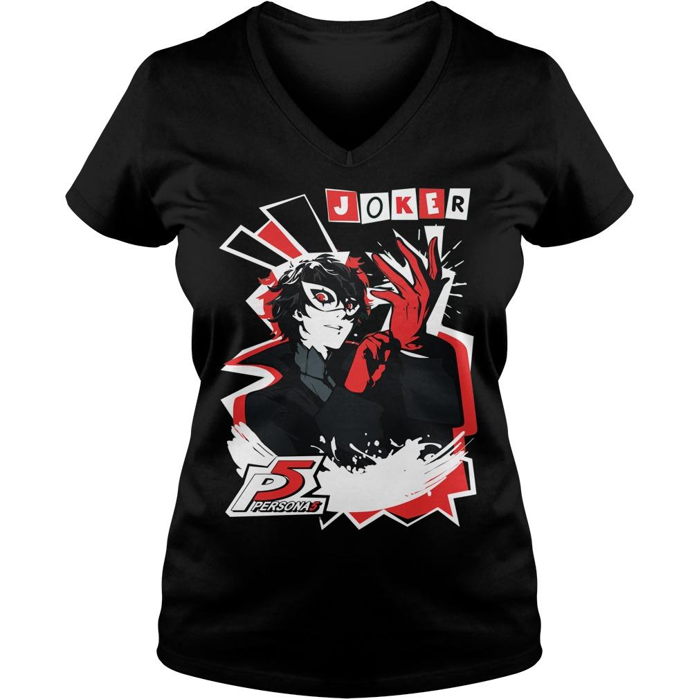 Persona 5 Joker V Neck T Shirt