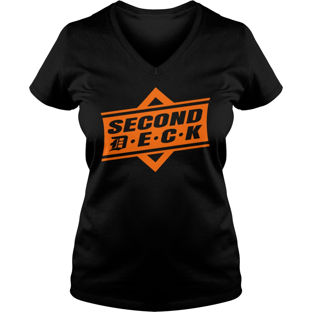 Second Deck Ladies V Neck Shirt
