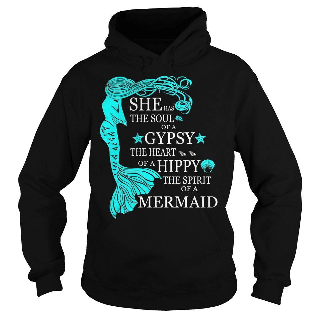 Soul Gypsy Heart Hippy Spirit Mermaid Hoodie