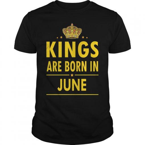 Kings Are Born In June Guys Tee