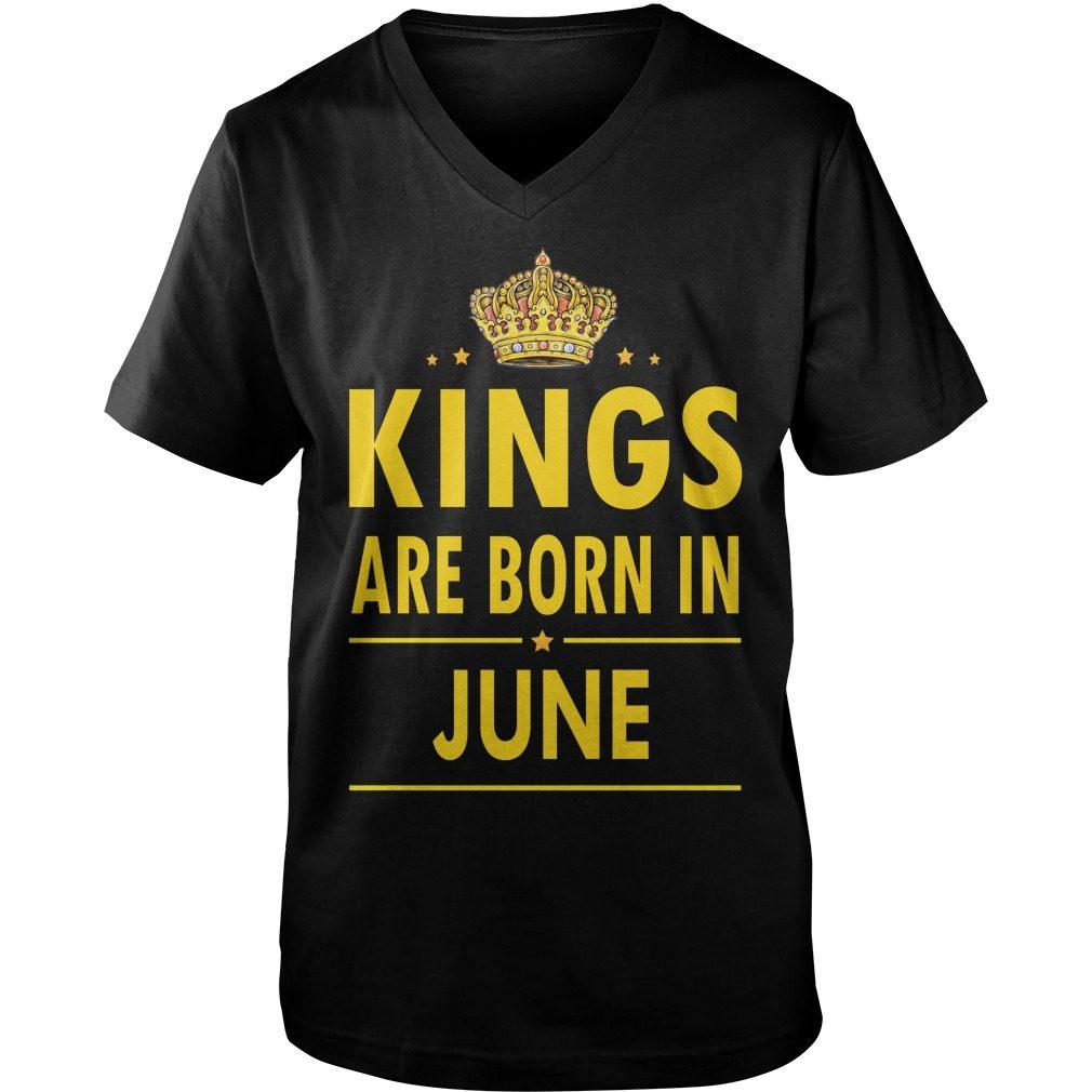 Kings Are Born In June Guys V Neck