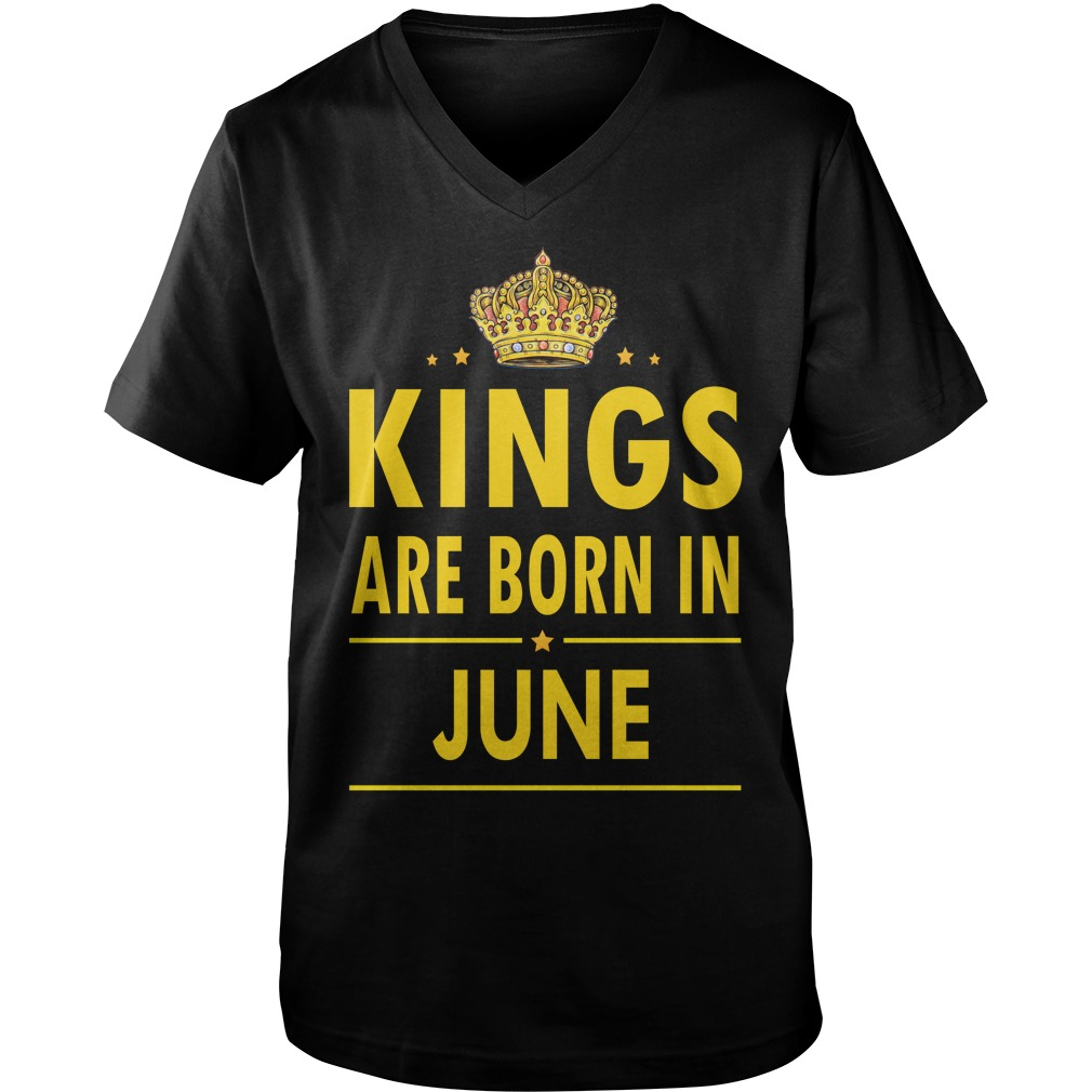 Kings Are Born In June Guys V Neck