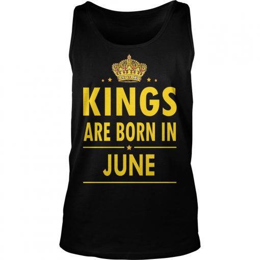 Kings Are Born In June Unisex Tank Top