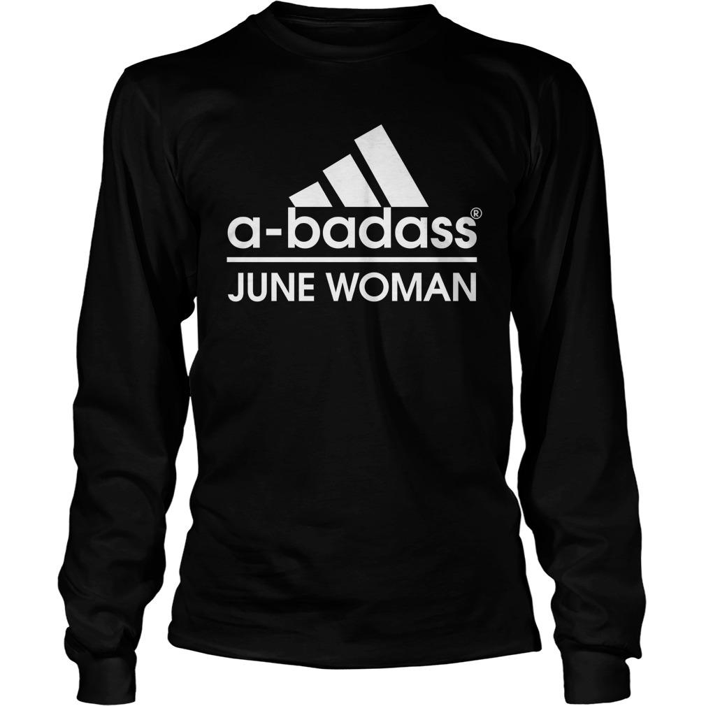 Badass June Woman Longsleeve Shirt