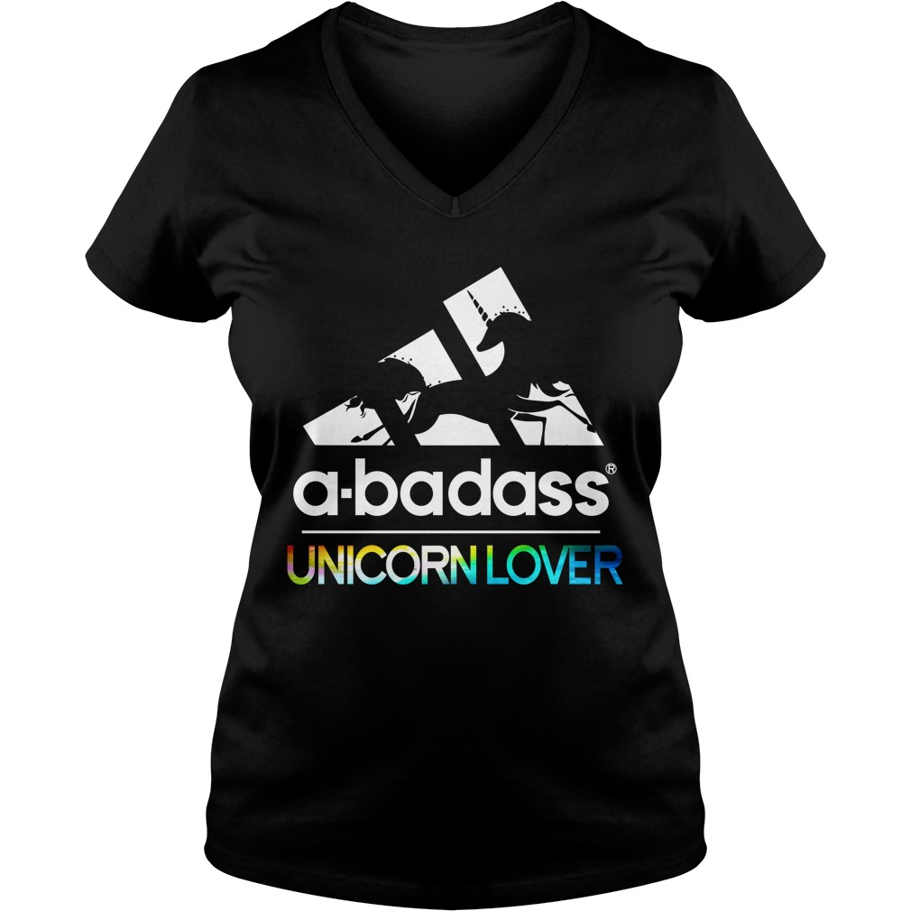 Badass Unicorn Lover V Neck T Shirt