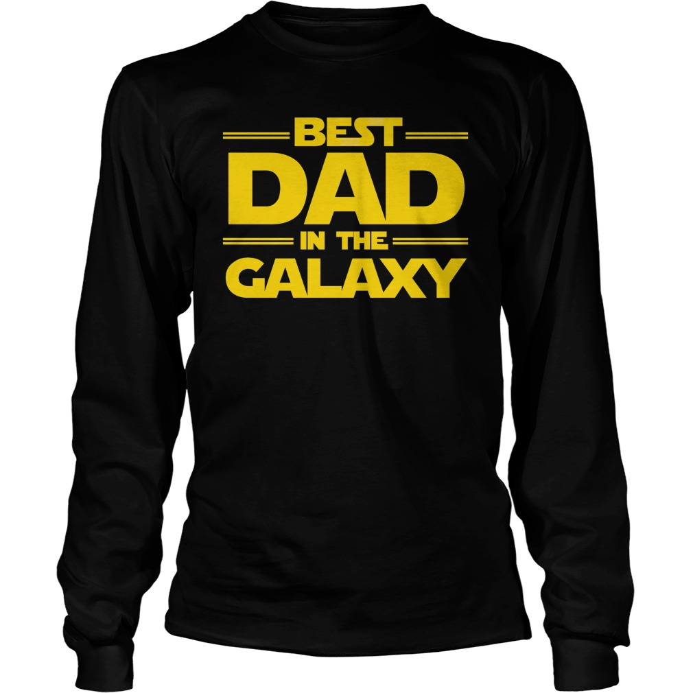 Best Dad Galaxy Longsleeve Shirt