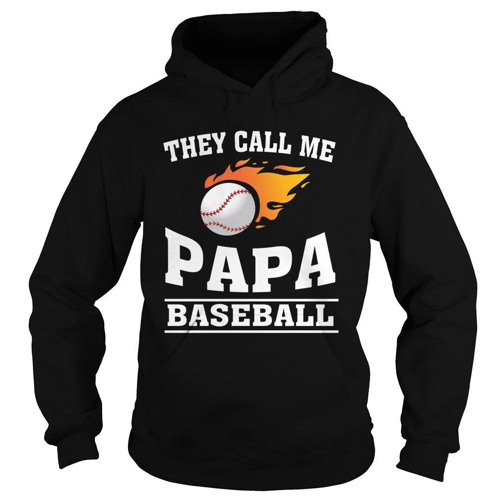 Call Papa Baseball Hoodie