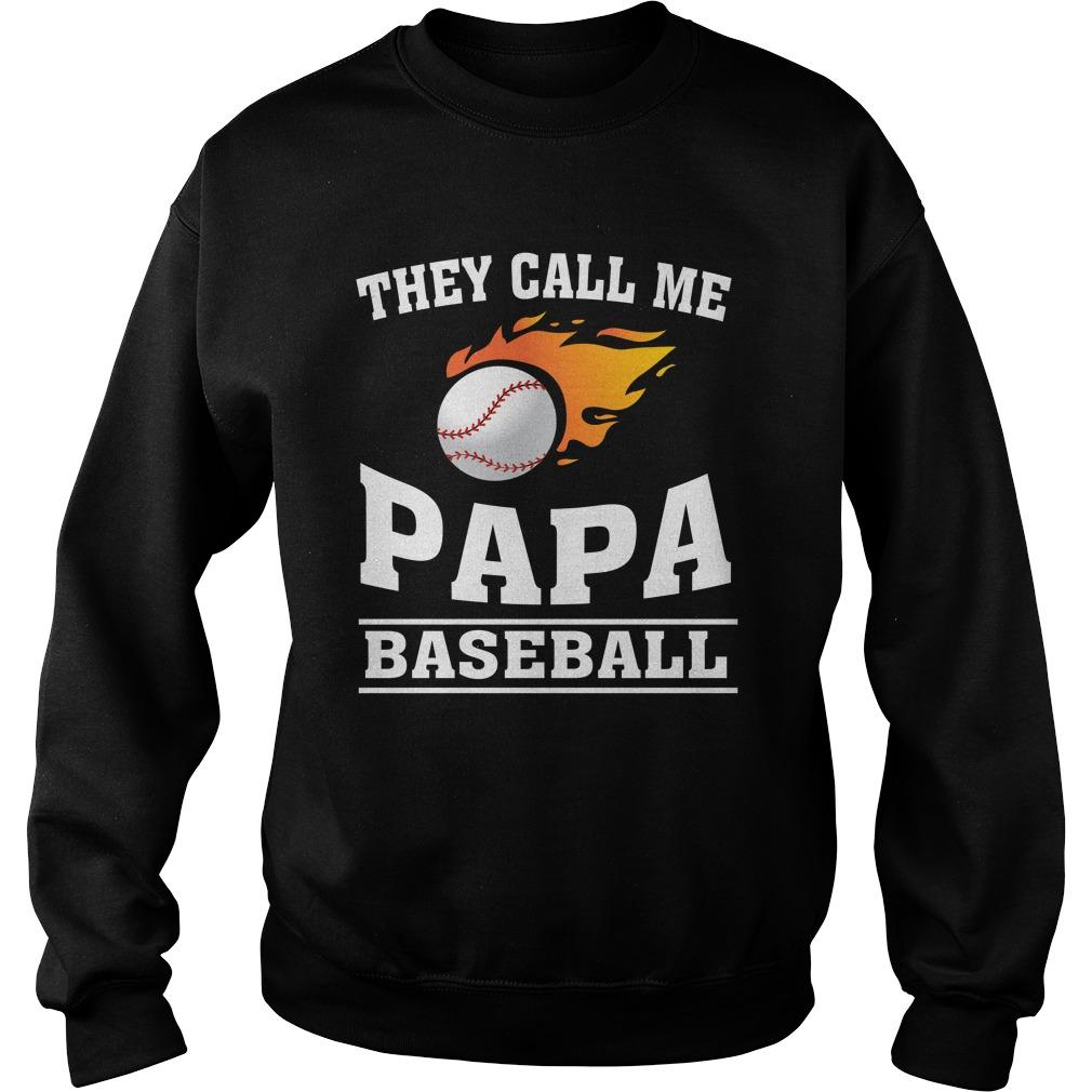 Call Papa Baseball Sweat Shirt