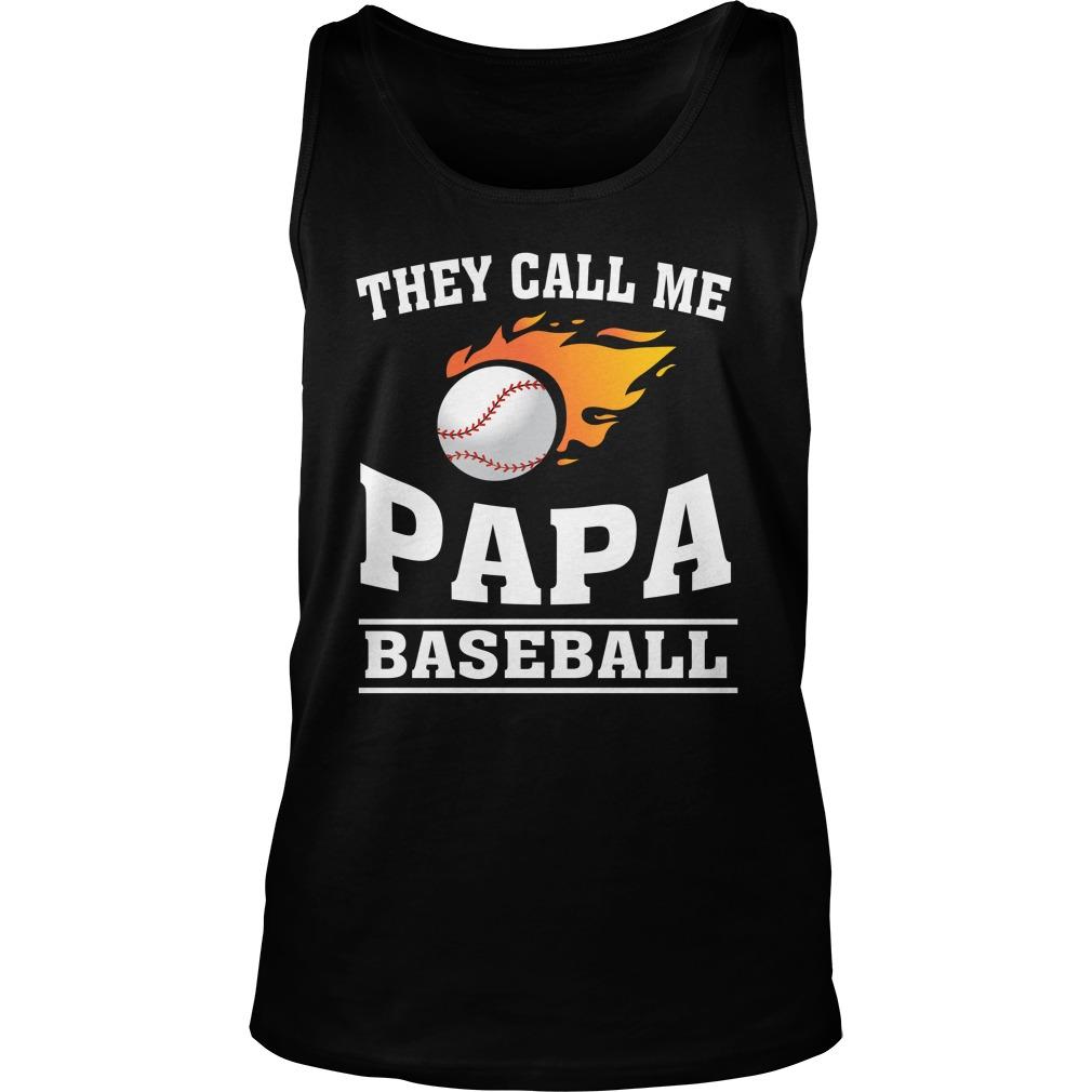 Call Papa Baseball Tank Top