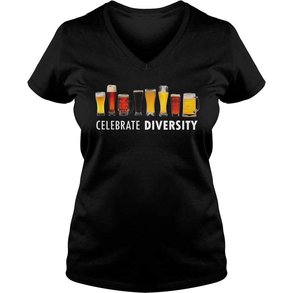Celebrate Diversity V Neck T Shirt