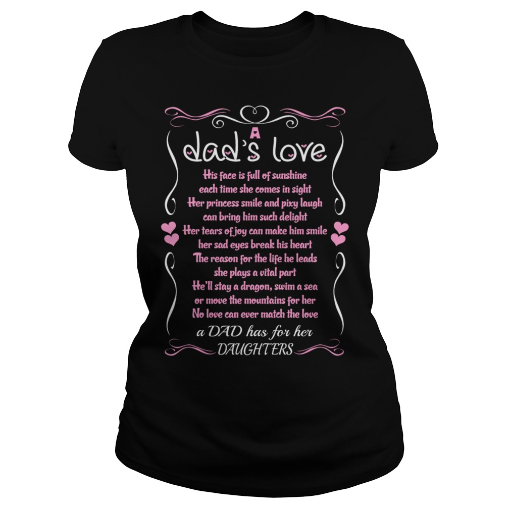 Dad Love Daughter Quote Ladies Shirt