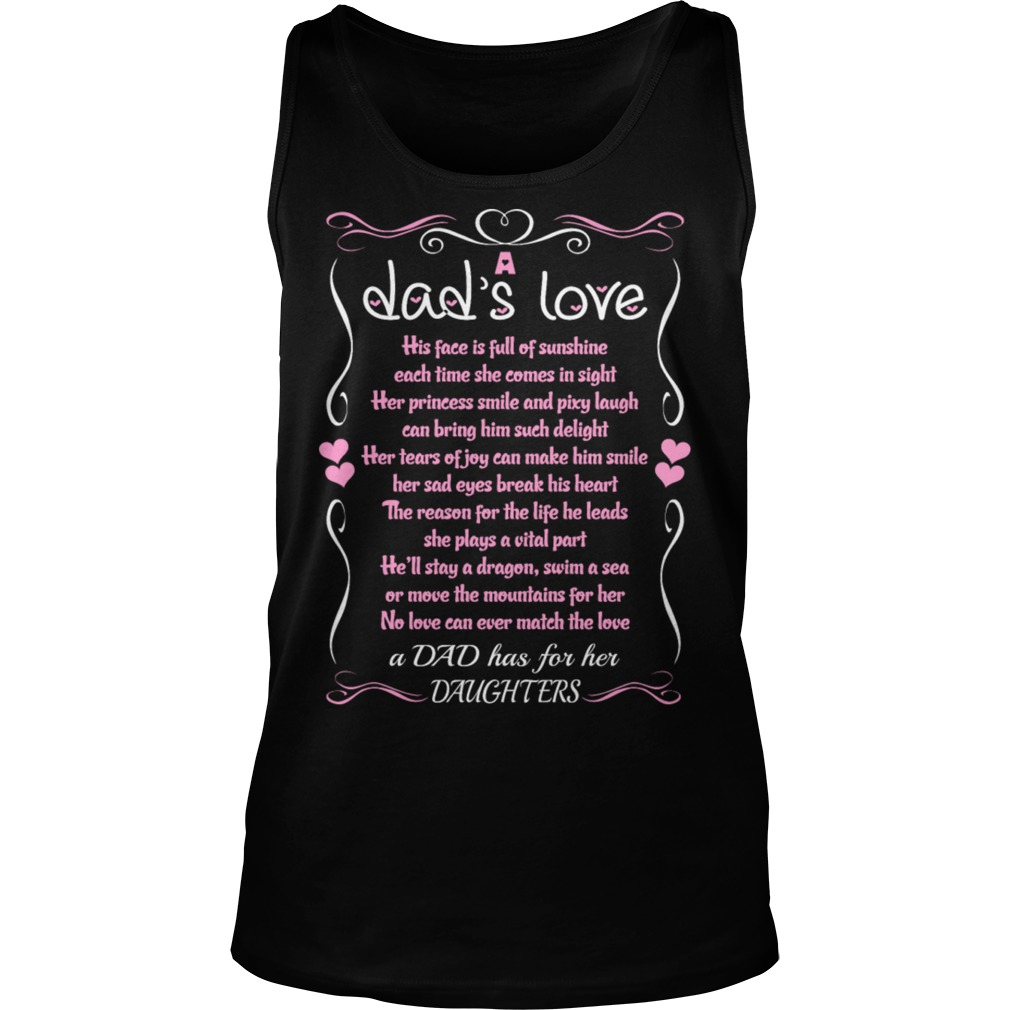Dad Love Daughter Quote Tank Top