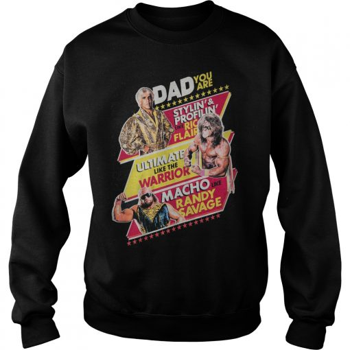 Dad Stylin Profilin Like Rick Flair Ultmate Like Warri Sweatshirt