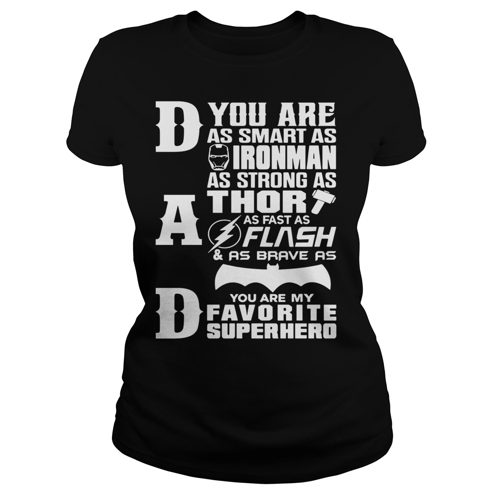 Dad Superhero Dad Gifts Fathers Day Ladies Shirt