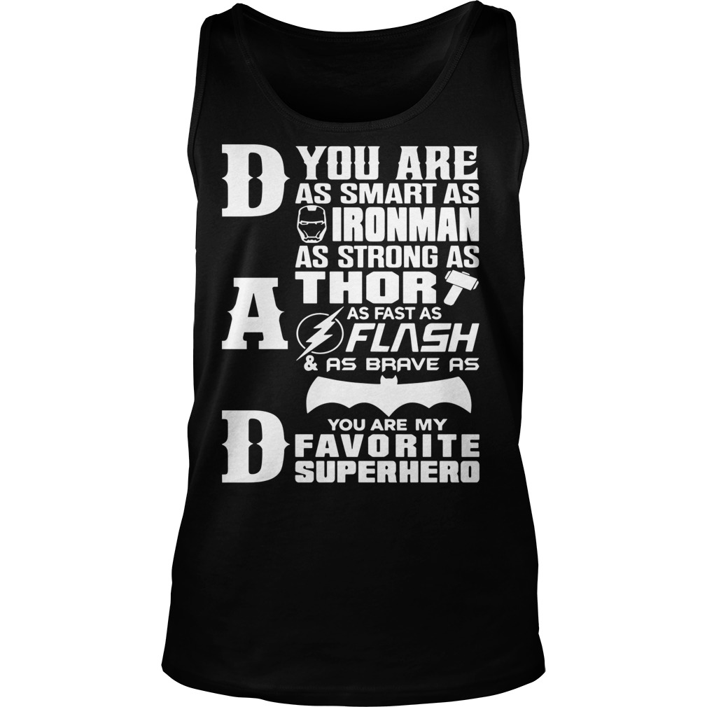 Dad Superhero Dad Gifts Fathers Day Tank Top