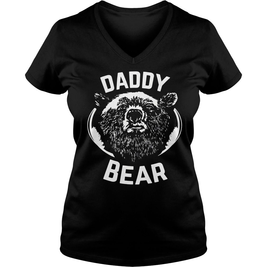 Daddy Bear V Neck T Shirt