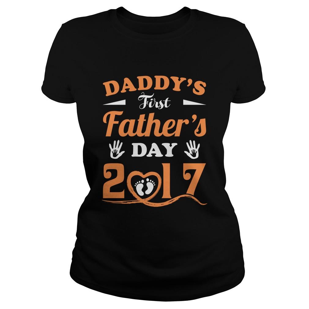 Daddys First Day Ladies Shirt