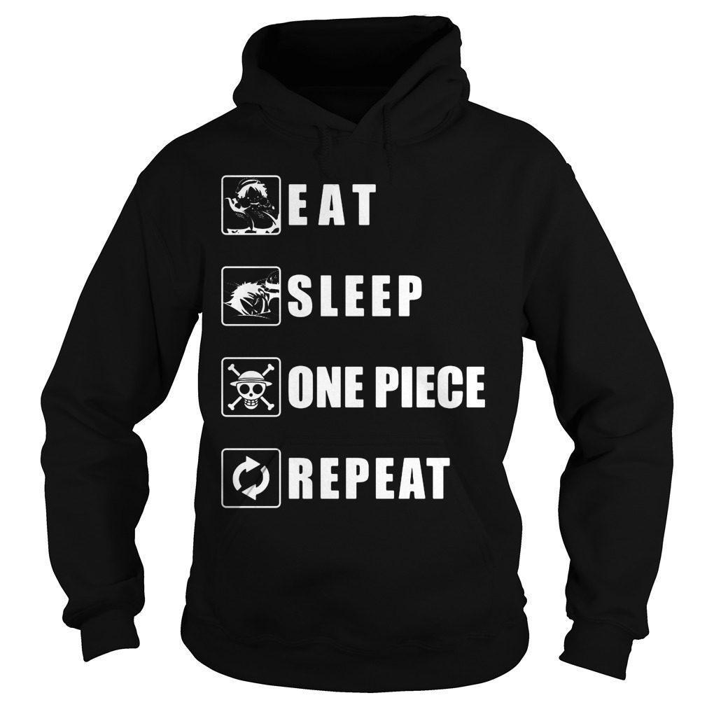 Eat Sleep One Piece Repeat Hoodie