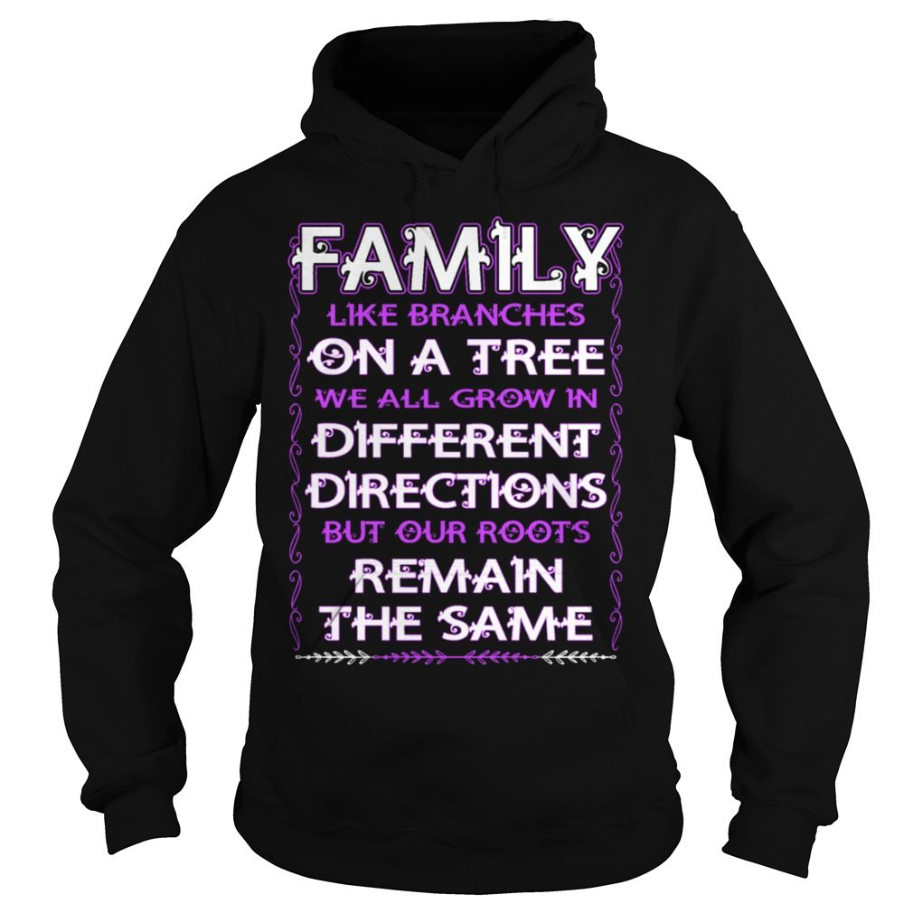 Family Like Branches Tree Grow Different Directions Hoodie