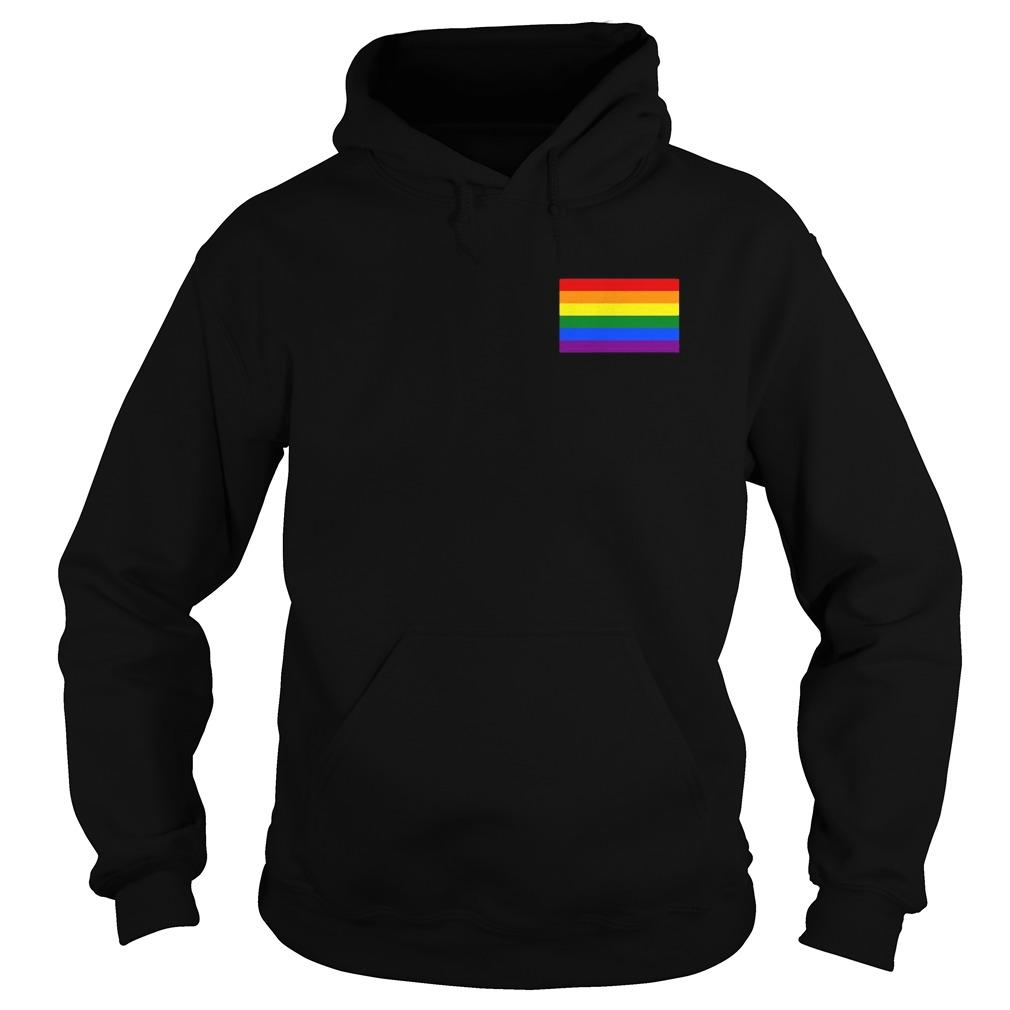 Gay Pride Flag Pocket Hoodie