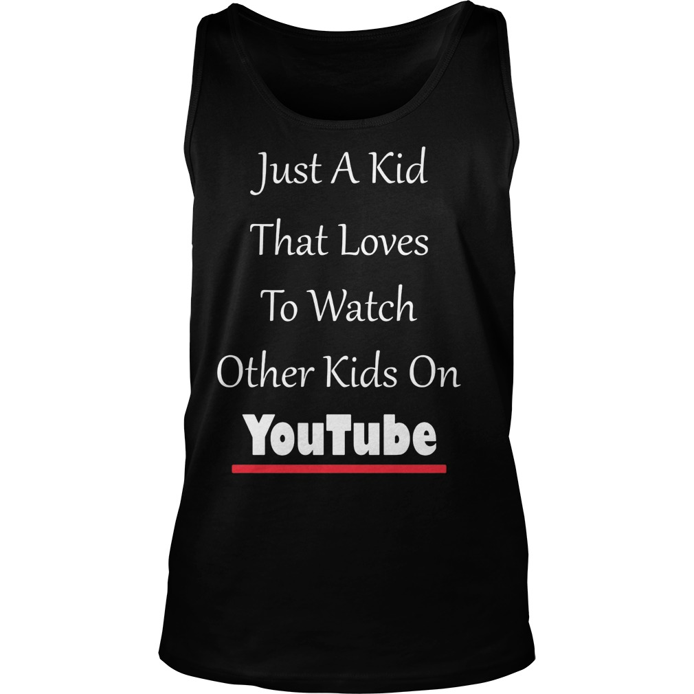 Just Kid Loves Watch Kids Funny Tank Top