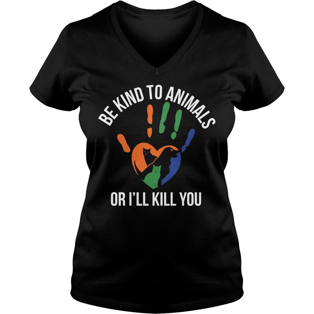 Kind Animal Ill Kill V Neck T Shirt