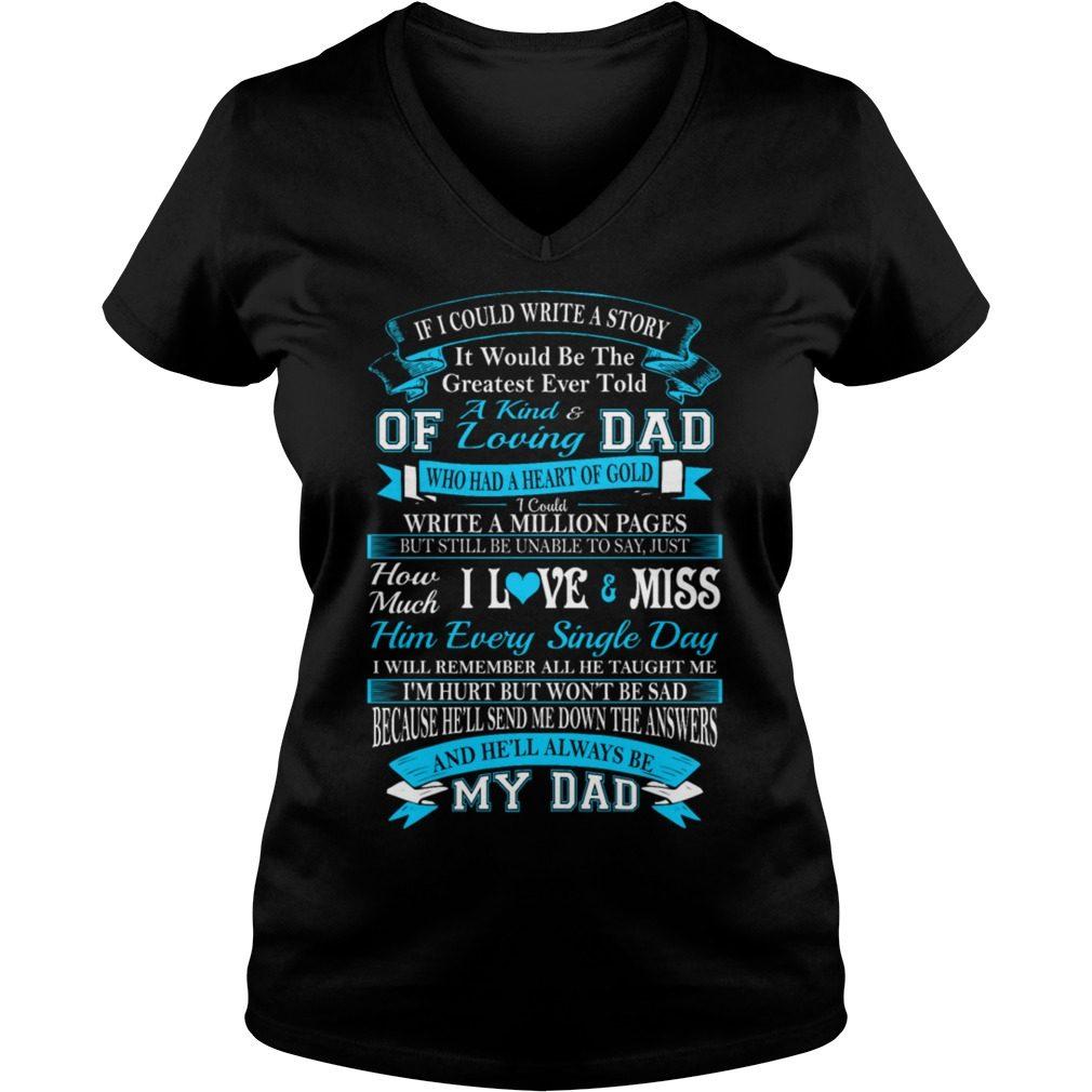 Kind Loving Dad V Neck T Shirt