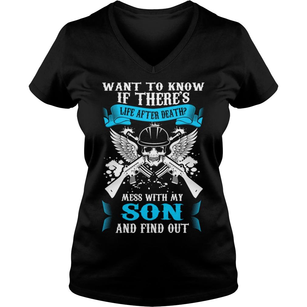 Life Death Mess Son Find V Neck T Shirt