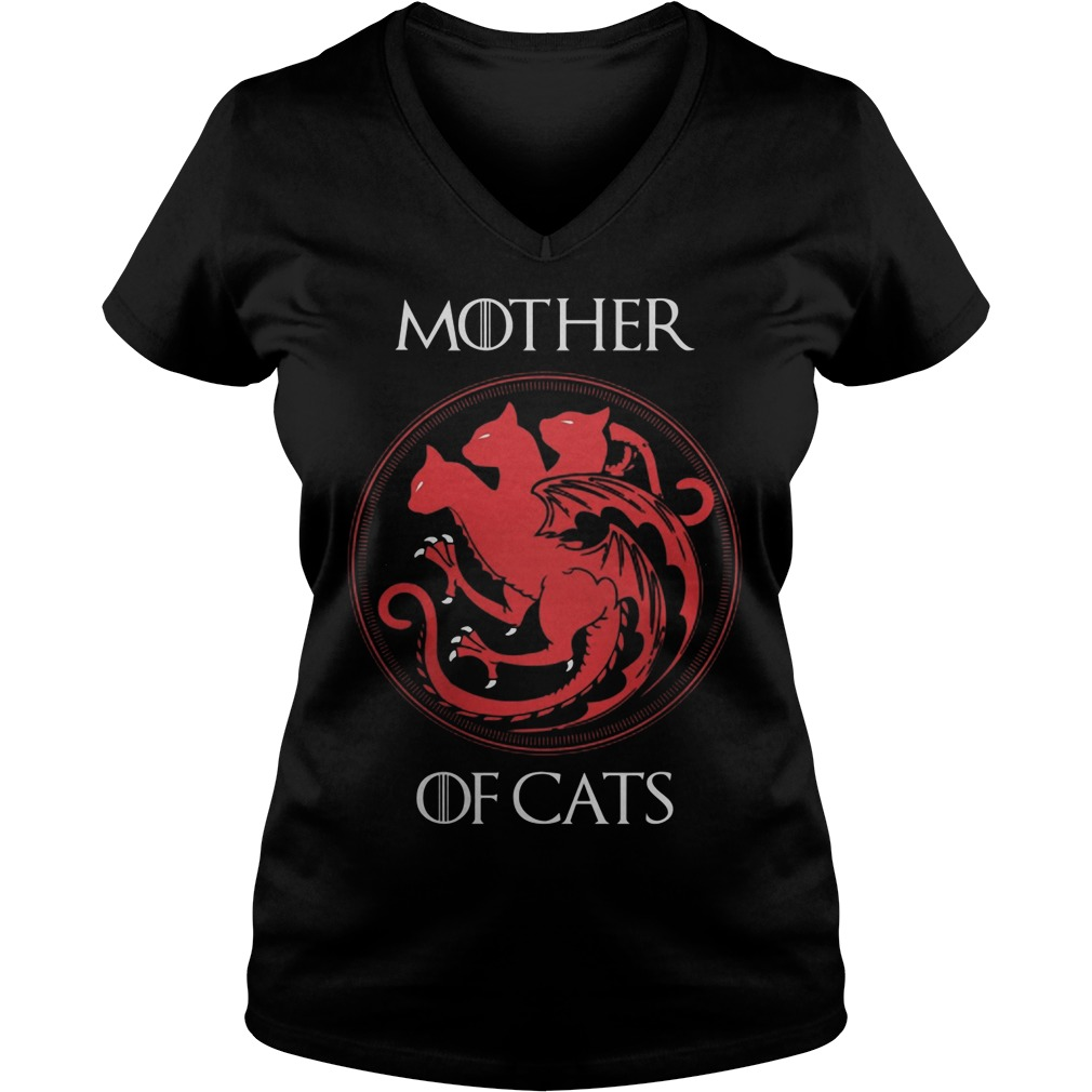 Mother Cats V Neck T Shirt