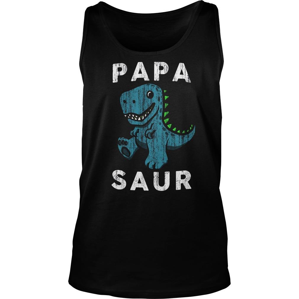 Papa Saur Tank Top