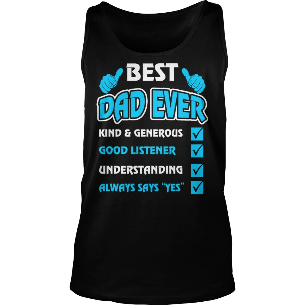 Quotes Best Dad Ever Tank Top