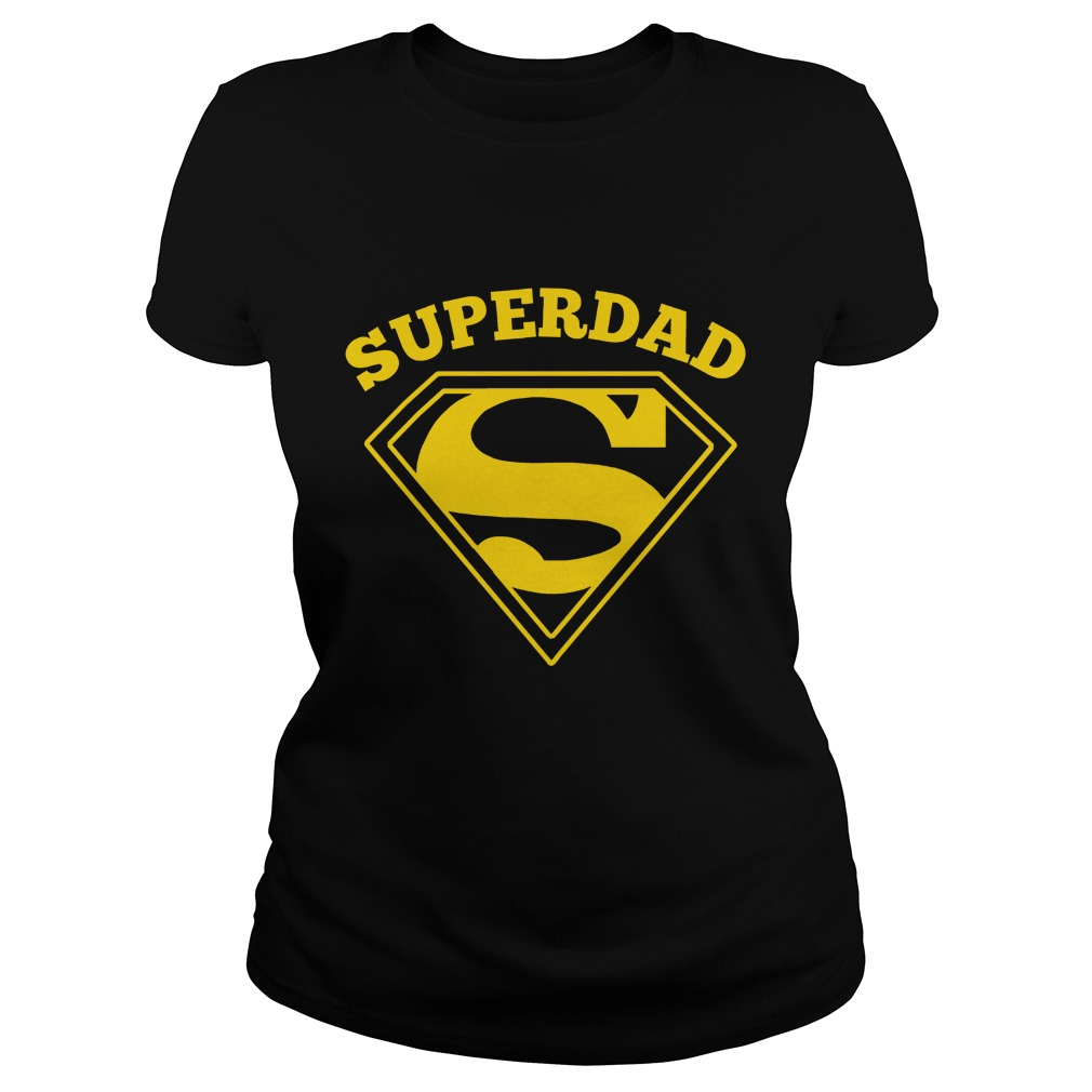 Super Dad Fathers Day Ladies Shirt