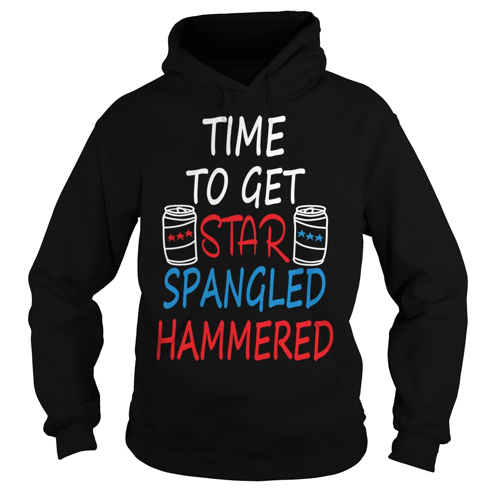 Time Get Star Spangled Hammered Hoodie