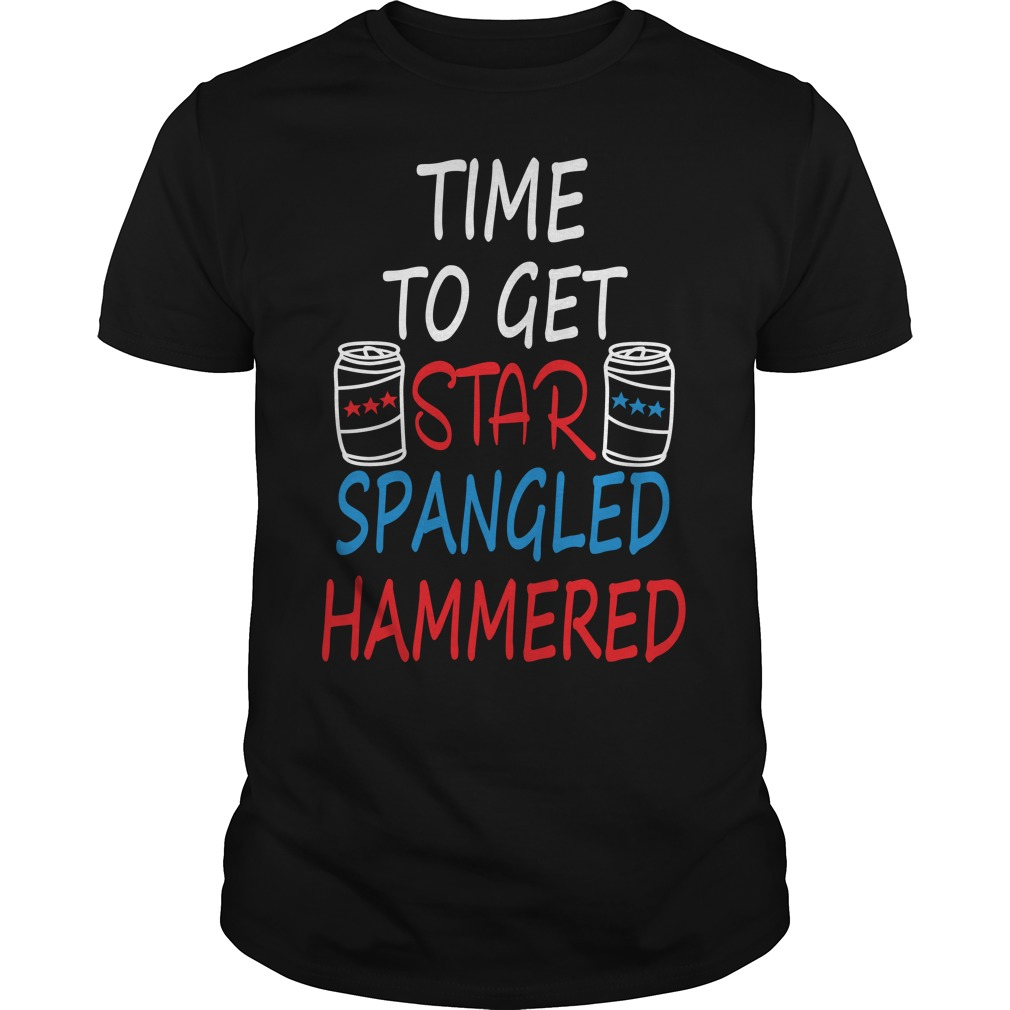 Time Get Star Spangled Hammered Shirt