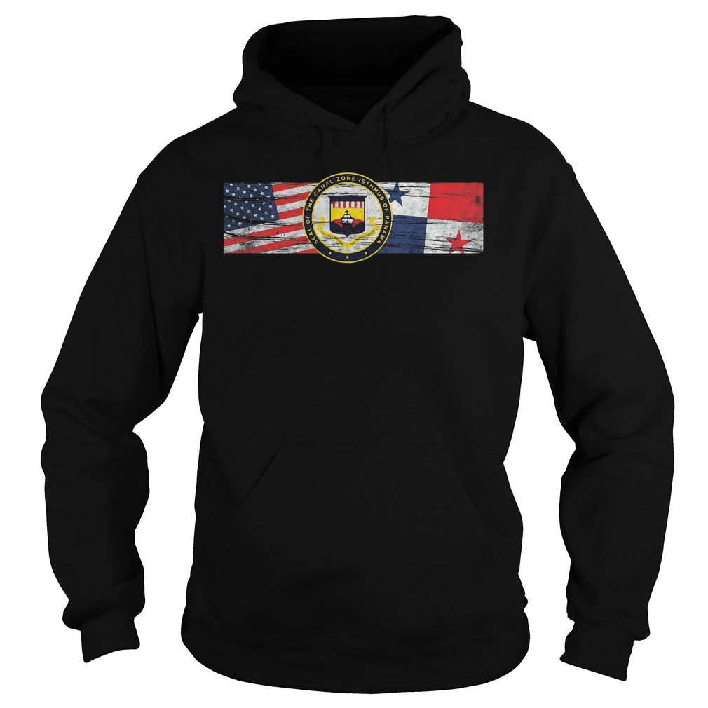 Zonian Panama Canal Zone Seal Us Panama Flags Hoodie