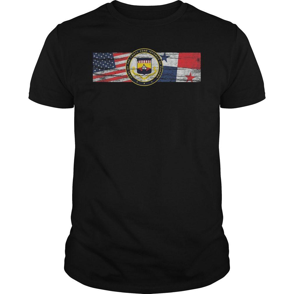Zonian Panama Canal Zone Seal Us Panama Flags Shirt