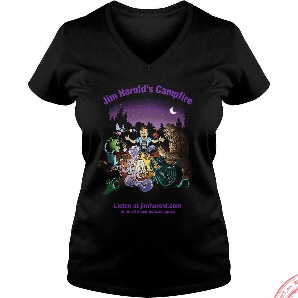 Jim Harolds Campfire V Neck T Shirt