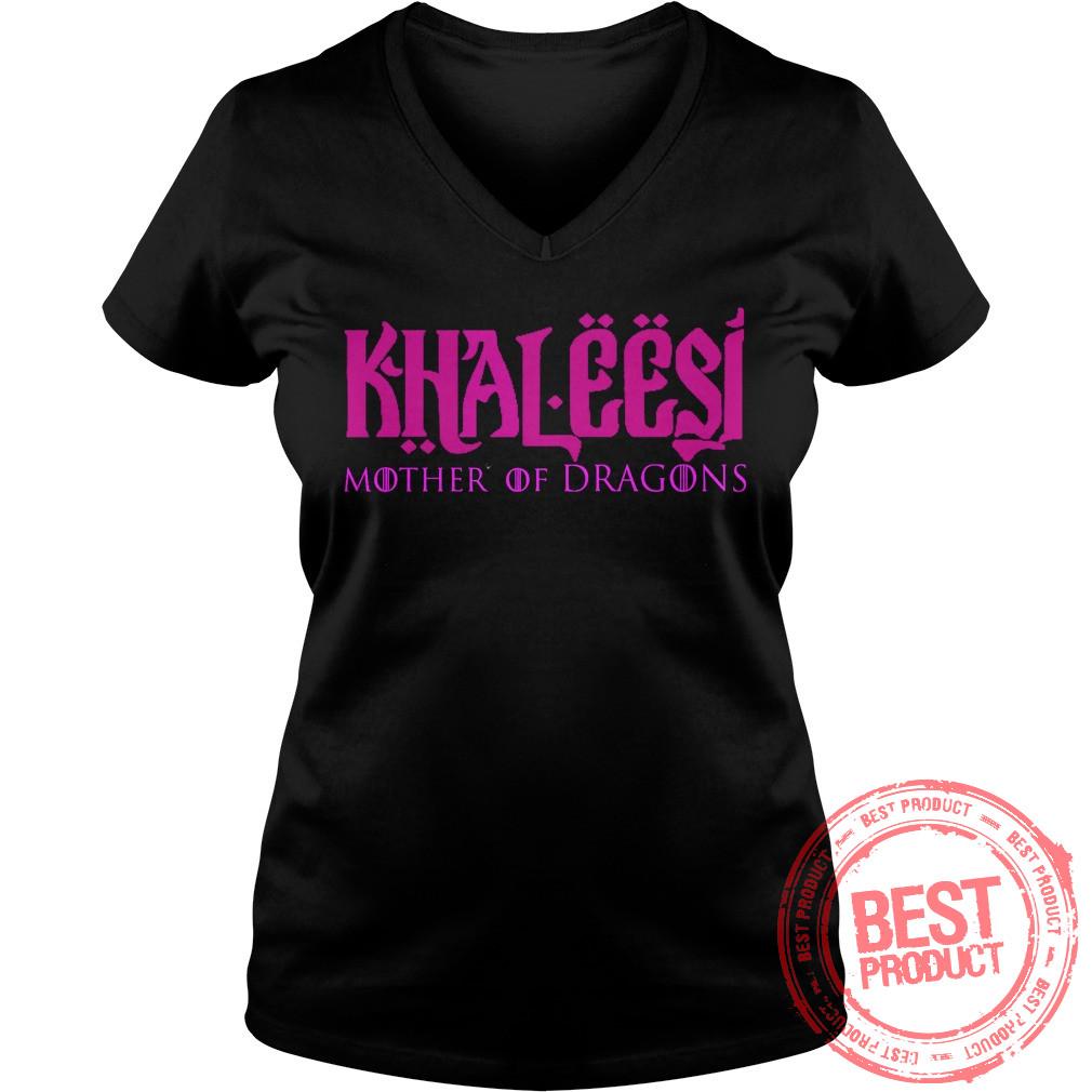 Khaleesi Mother Dragons V Neck T Shirt