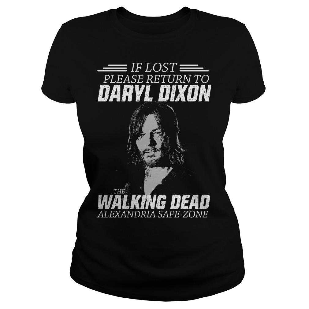 Lost Please Return Daryl Dixon Walking Dead Shirt Ladies