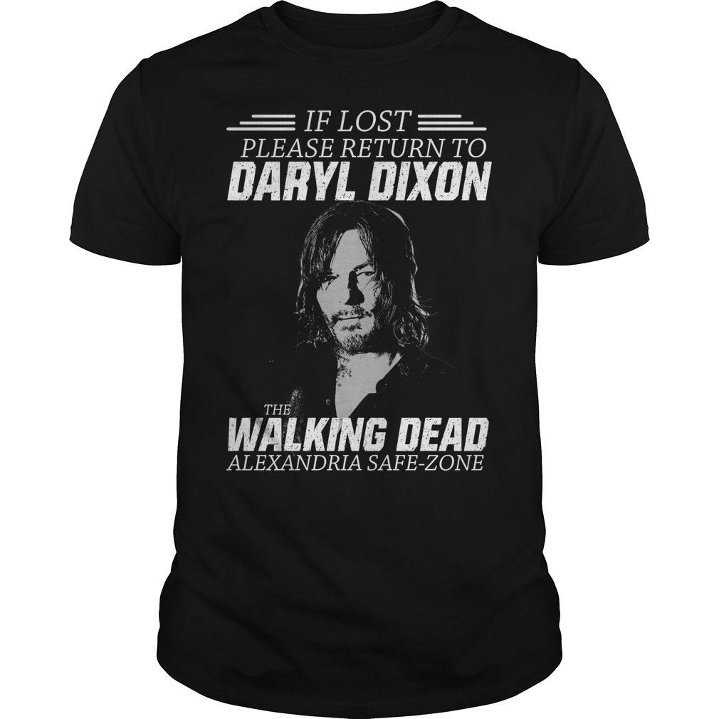 Lost Please Return Daryl Dixon Walking Dead Shirt