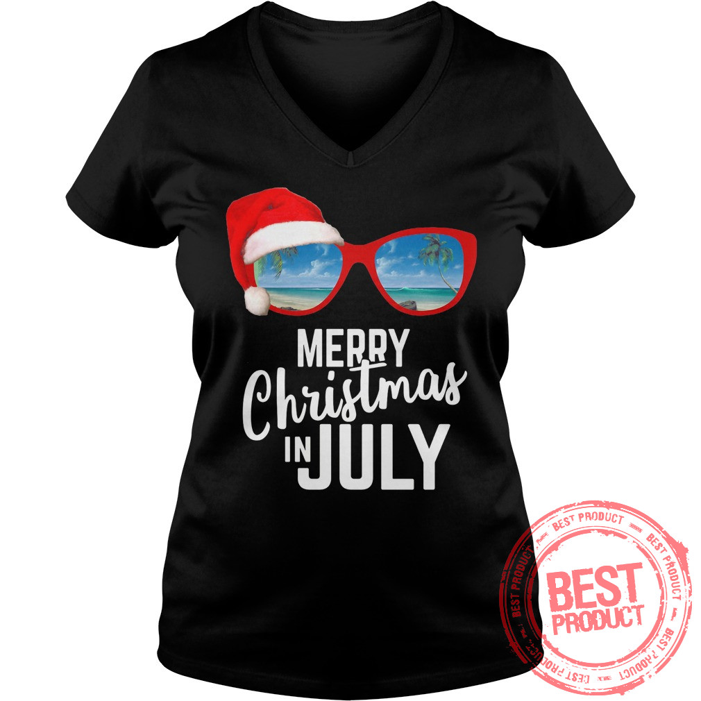 Merry Christmas July V Neck T Shirt
