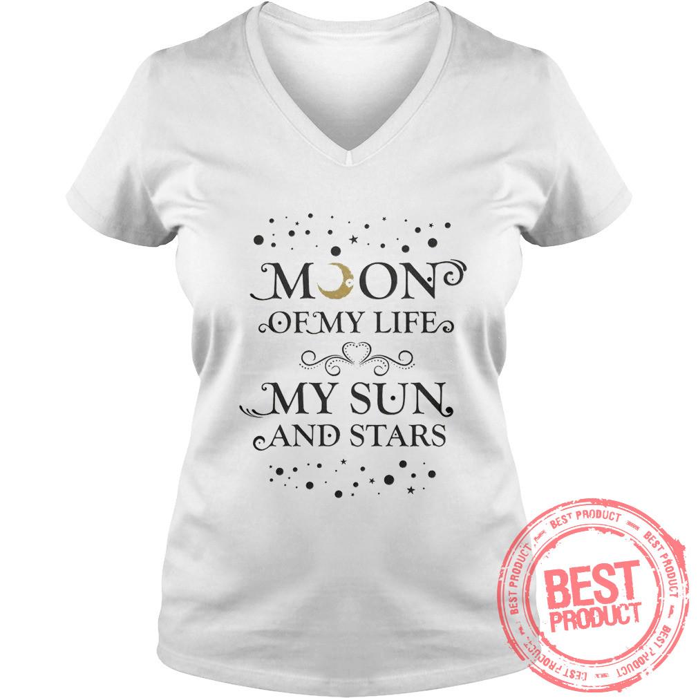 Moon Life Sun Star V Neck T Shirt