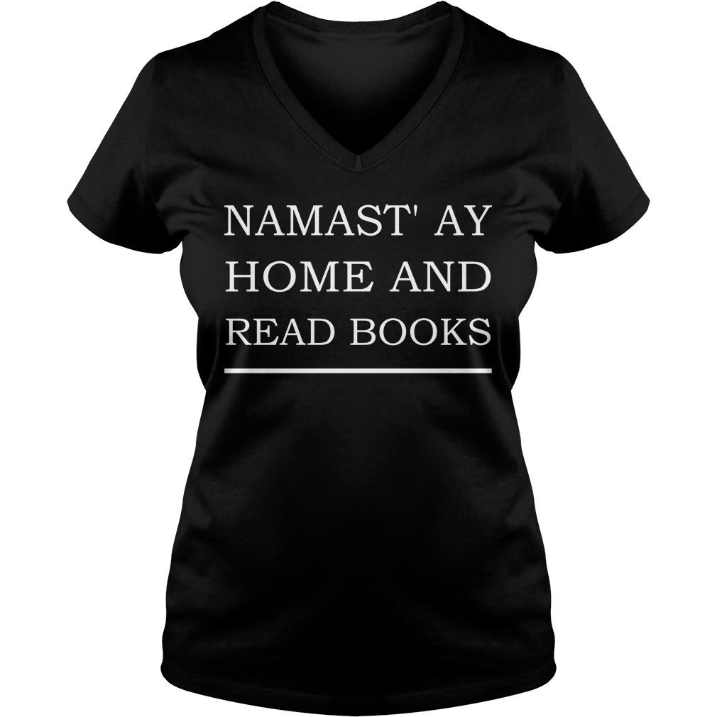 Namastay Home Read Book V Neck
