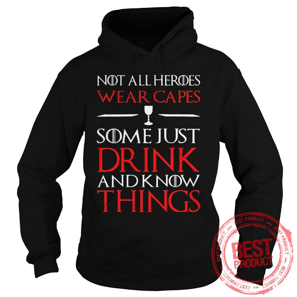 Not Heroes Wear Capes Hoodie