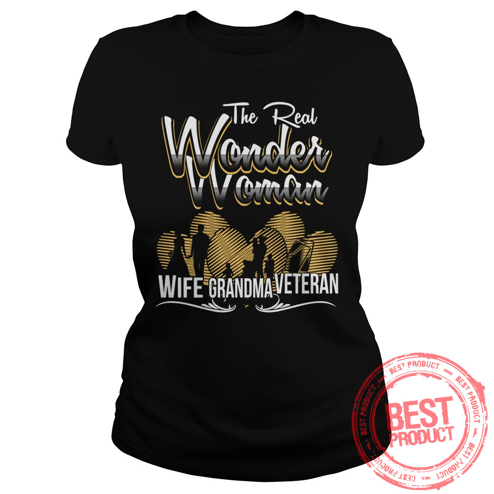 Real Wonder Woman Grandma Ladies Tee