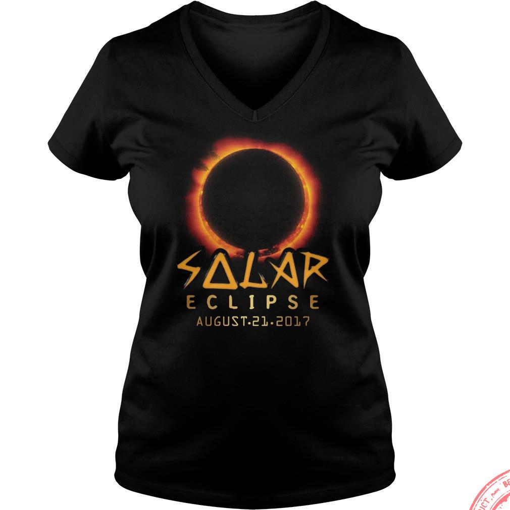 Solar Eclipse August 21 2017 V Neck T Shirt