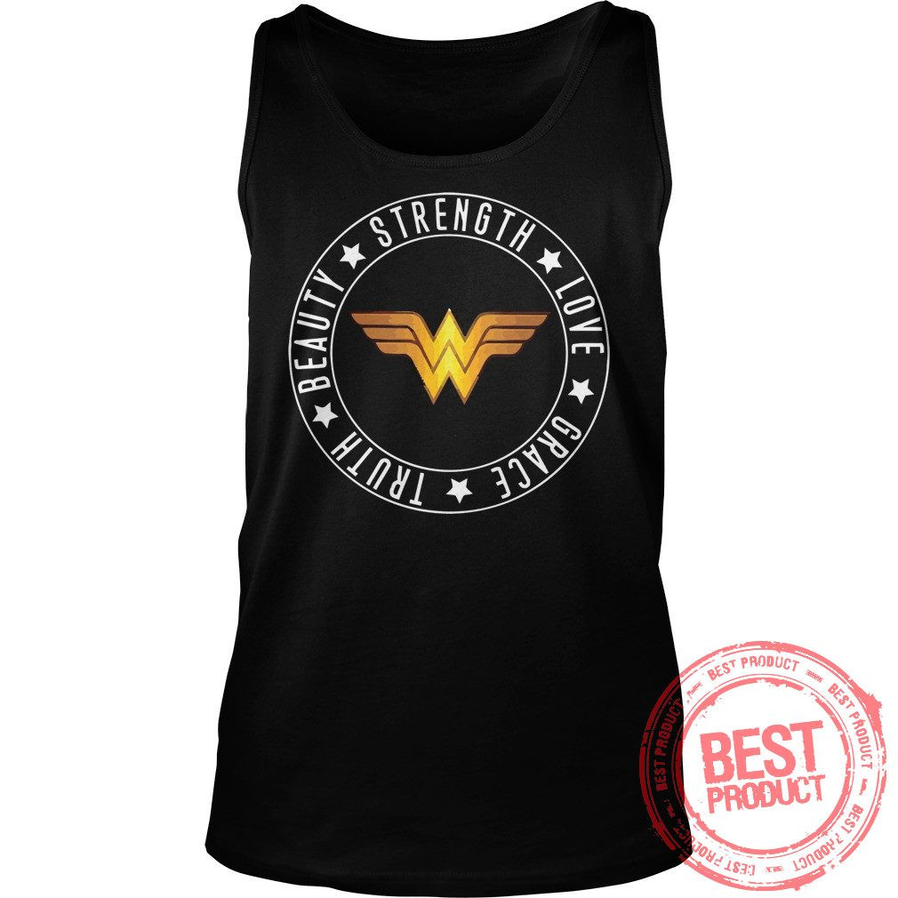 Strength Love Grace Truth Beauty Wonder Woman Logo Tank Top 1