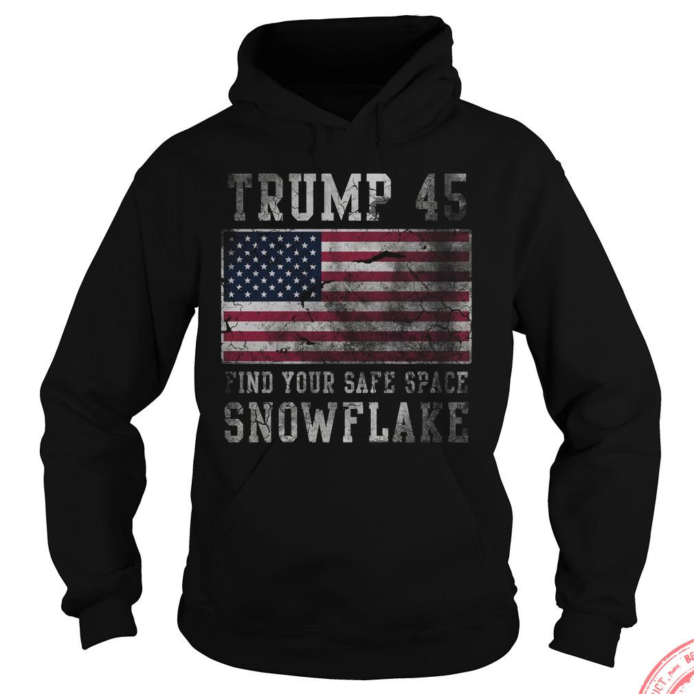 Trump 45 Fine Safe Space Snowflake Hoodie