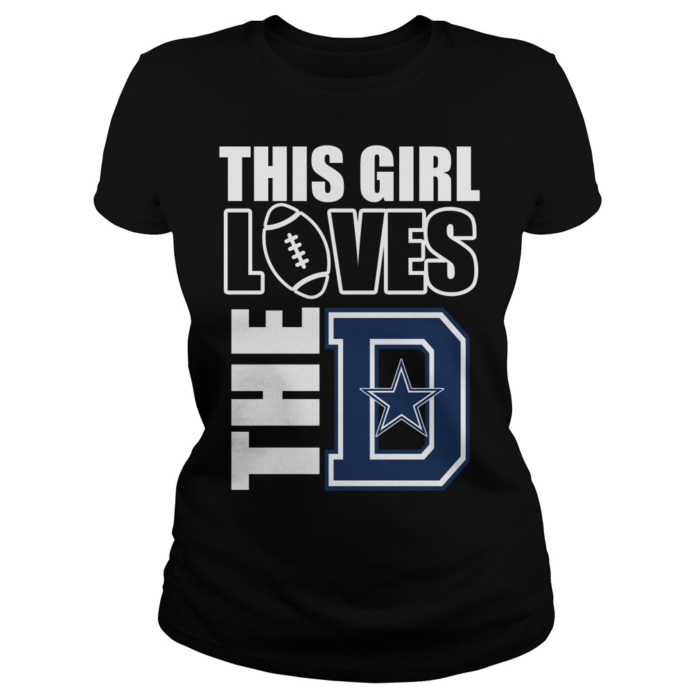 This Girl Loves The D Football Shirt